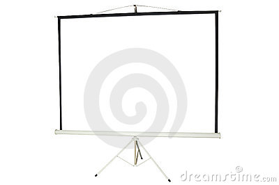 Blank portable projector screen