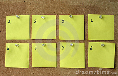 Blank post-its