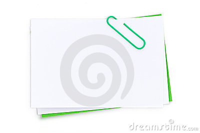 Blank post it note and clip