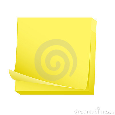 Blank post it note pad