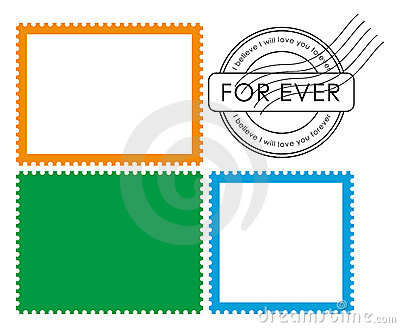 Blank post stamp (vector)