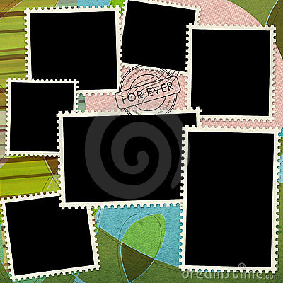Free Blank Postage Stamp Background Textured  Stock Photo - 15354900