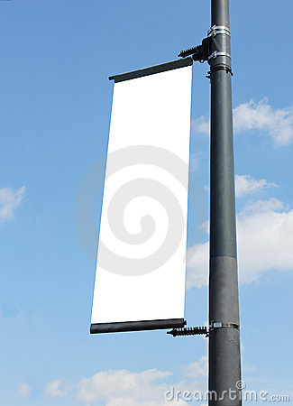 Free Blank Poster On Lampost Stock Photo - 15776880