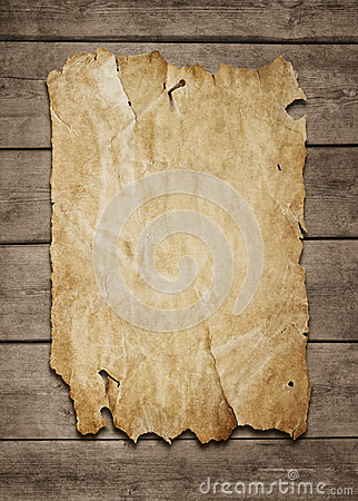 Blank poster at wooden background