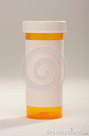Free Blank Prescription Bottle Royalty Free Stock Image - 4652136