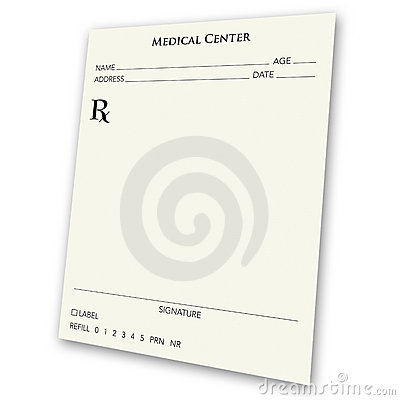 Blank prescription pad