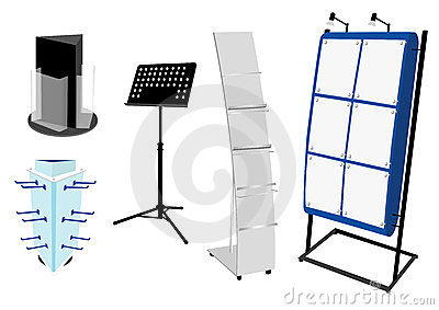 Blank Promotion Stand set.