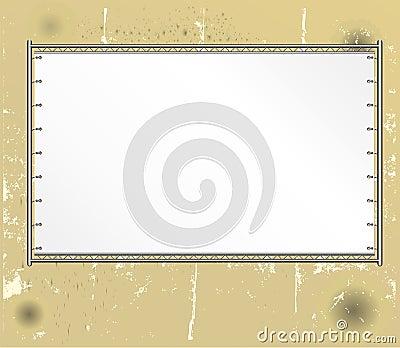 Blank public billboard