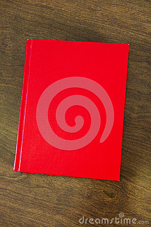Blank Red Book for YOUR TEXT HERE or Copy Space