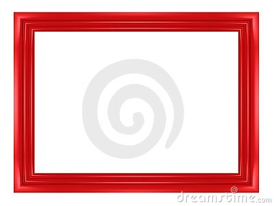 Blank red frame for pictures and photos