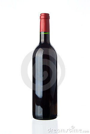 Blank red wine bottle