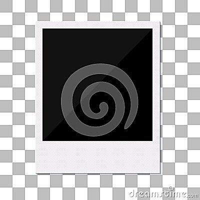 Free Blank Retro Polaroid Photo Frame. Royalty Free Stock Images - 34950509