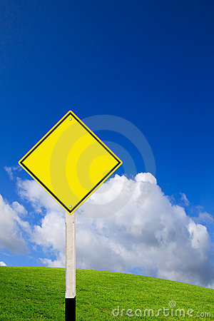 Free Blank Road Sign Stock Image - 20827921