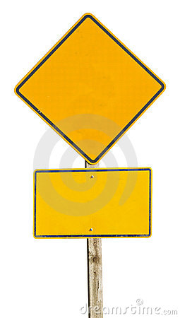 Free Blank Road Sign Royalty Free Stock Photography - 22904947