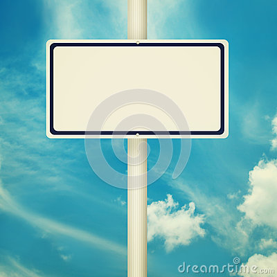 Blank Road Sign Stock Illustration - Image: 43445947