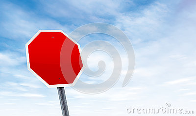 Blank road sign with sky copy space