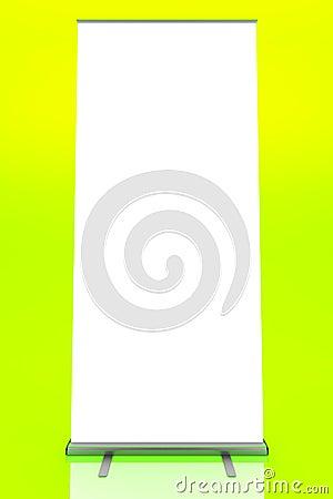 Blank roller banner