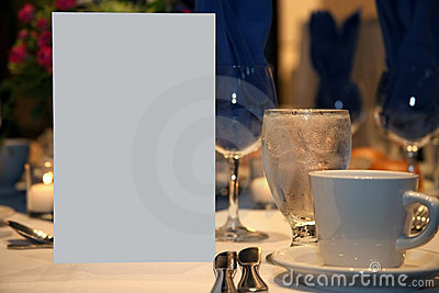 Blank Romantic Dinner Invite