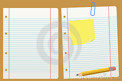 Blank Lined Paper And A Pencil Royalty Free Images Image – Blank Line Paper