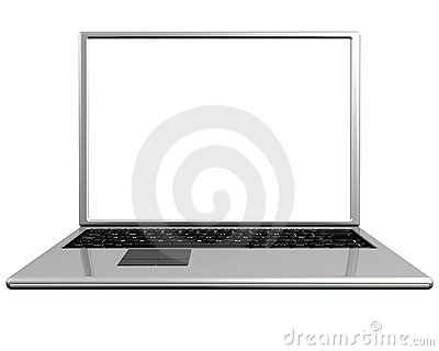 Blank screen on a laptop