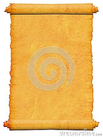 Blank scroll manuscript.