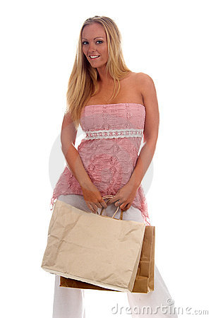 Free Blank Shopping Bag Royalty Free Stock Photos - 910608