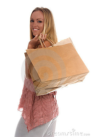 Free Blank Shopping Bags Stock Photography - 910612