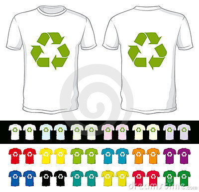 Blank shorts with recycling symbol