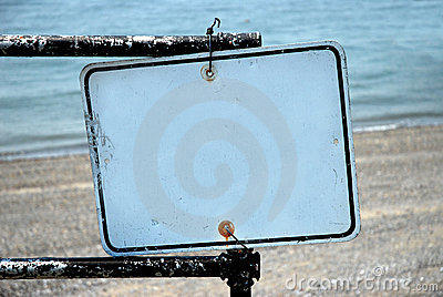 Blank Sign - Add Your Text
