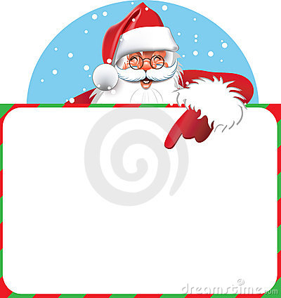 Blank sign - Santa