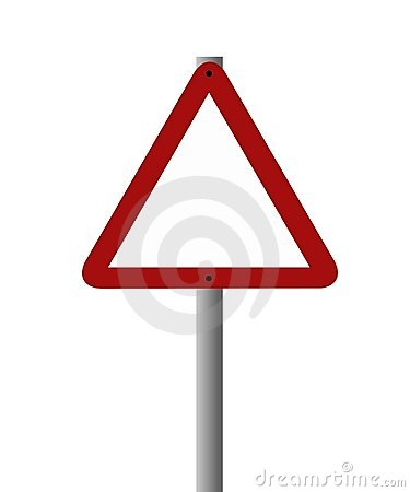 Blank sign - triangular