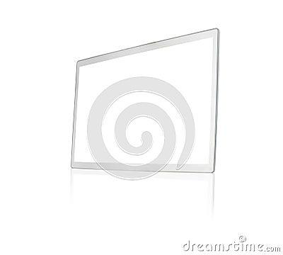 Blank silver screen