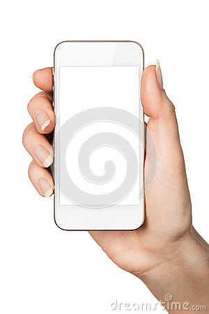 Free Blank Smart Phone In Hand Stock Photography - 37048742