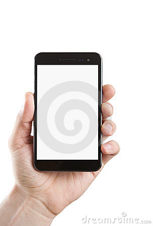 Free Blank Smart Phone With Clipping Path Stock Photography - 24220442
