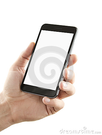 Free Blank Smart Phone With Clipping Path Royalty Free Stock Photography - 26839077