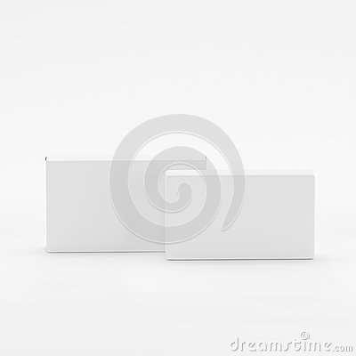 Free Blank Soap & Box Packaging Mock-Up Template On White Background, Ready For Your Design And Presentation, 3D Illustration Royalty Free Stock Photography - 92939837