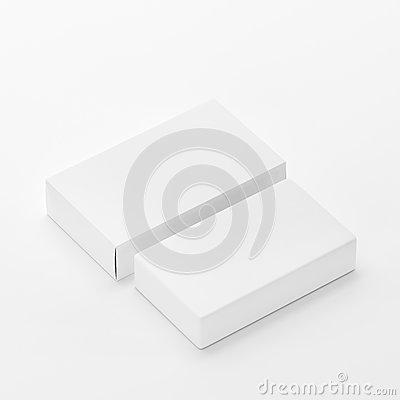 Free Blank Soap & Box Packaging Mock-Up Template On  White Background, Ready For Your Design And Presentation, 3D Illustration Royalty Free Stock Photo - 92940005
