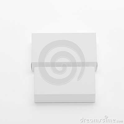 Free Blank Soap & Box Packaging Mock-Up Template On  White Background, Ready For Your Design And Presentation, 3D Illustration Royalty Free Stock Image - 92940106