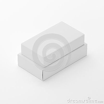 Free Blank Soap & Box Packaging Mock-Up Template On  White Background, Ready For Your Design And Presentation, 3D Illustration Royalty Free Stock Photos - 92940208