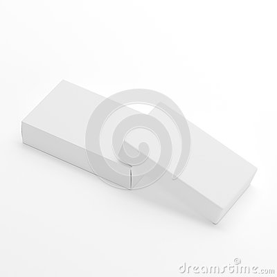 Free Blank Soap & Box Packaging Mock-Up Template On White Background, Ready For Your Design And Presentation, 3D Illustration Stock Photo - 92940260