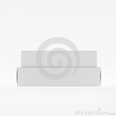 Free Blank Soap & Box Packaging Mock-Up Template On White Background, Ready For Your Design And Presentation, 3D Illustration Royalty Free Stock Image - 92940346