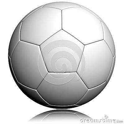 Blank soccer ball