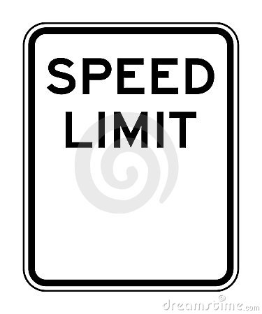 Blank speed limit sign