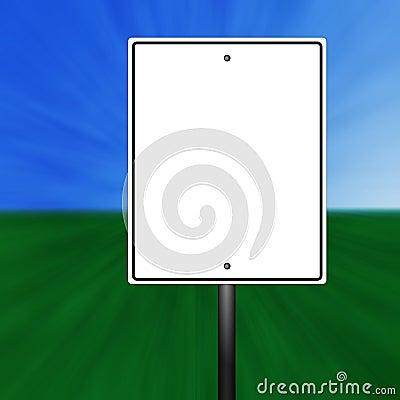 Blank Speed Limit Sign