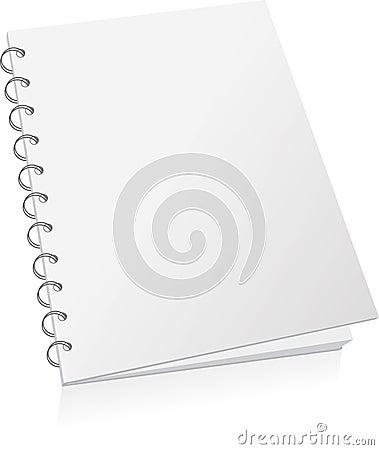 Blank spiral book
