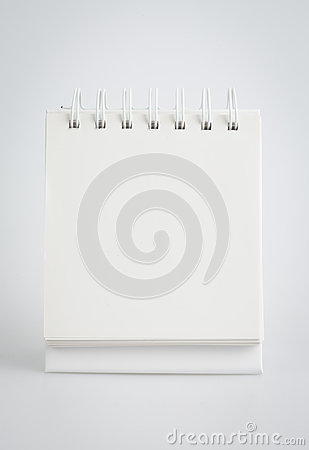Blank spiral note pad