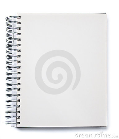 Free Blank Spiral Notebook Stock Photography - 18585942