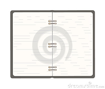 Blank spiral notebook open