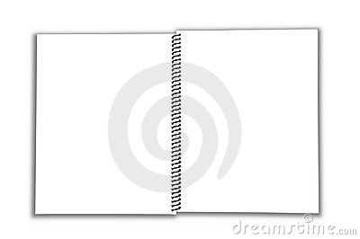Blank Spiral open Notebook