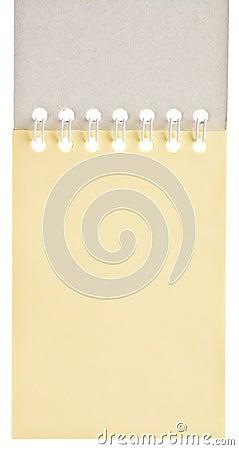 Blank spiral pad